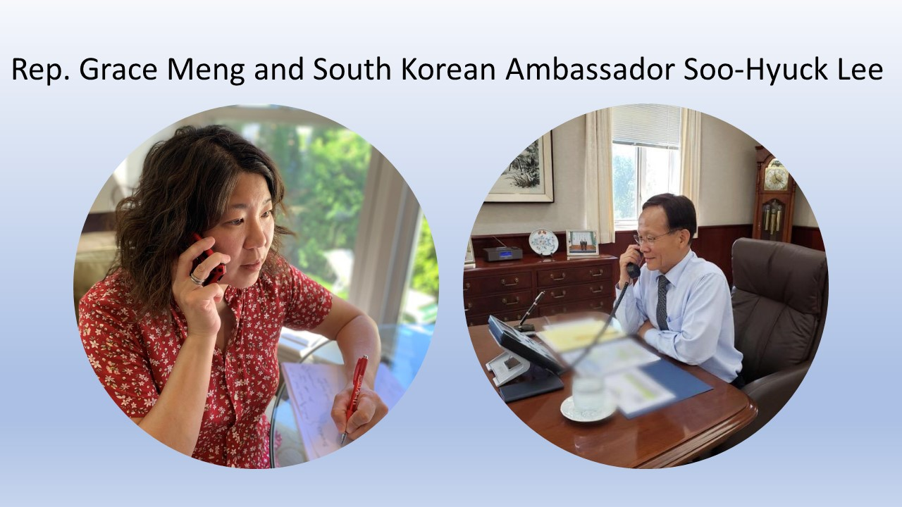 Meng speaks with South Korea's Ambassador to the U.S.